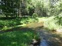 Řeka Tichá Orlice v obci Lichkov