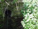 Nenápadná kanalizační výpusť do Tiché Orlice v Lichkově.